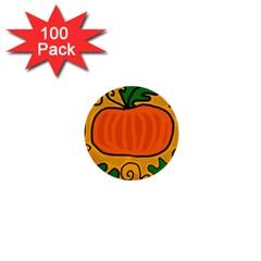 Thanksgiving pumpkin 1  Mini Buttons (100 pack)