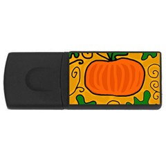 Thanksgiving pumpkin USB Flash Drive Rectangular (2 GB)