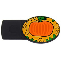 Thanksgiving pumpkin USB Flash Drive Oval (4 GB)