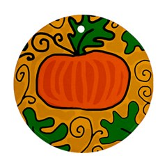 Thanksgiving pumpkin Round Ornament (Two Sides)