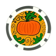Thanksgiving pumpkin Poker Chip Card Guards (10 pack)