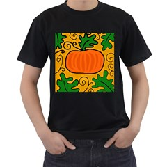Thanksgiving pumpkin Men s T-Shirt (Black)