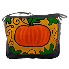 Thanksgiving pumpkin Messenger Bags