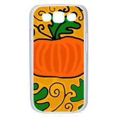 Thanksgiving pumpkin Samsung Galaxy S III Case (White)