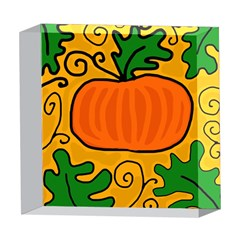 Thanksgiving pumpkin 5  x 5  Acrylic Photo Blocks