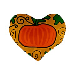Thanksgiving pumpkin Standard 16  Premium Flano Heart Shape Cushions