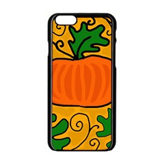 Thanksgiving pumpkin Apple iPhone 6/6S Black Enamel Case