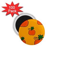 Thanksgiving pumpkins pattern 1.75  Magnets (100 pack)