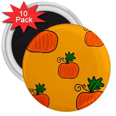 Thanksgiving pumpkins pattern 3  Magnets (10 pack)