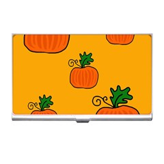 Thanksgiving pumpkins pattern Business Card Holders