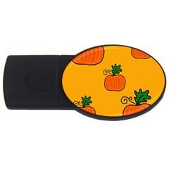 Thanksgiving pumpkins pattern USB Flash Drive Oval (1 GB)