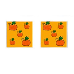 Thanksgiving pumpkins pattern Cufflinks (Square)
