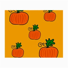 Thanksgiving pumpkins pattern Small Glasses Cloth (2-Side)