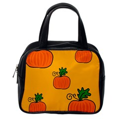 Thanksgiving pumpkins pattern Classic Handbags (One Side)