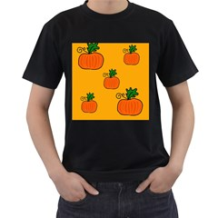 Thanksgiving pumpkins pattern Men s T-Shirt (Black)