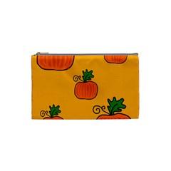 Thanksgiving pumpkins pattern Cosmetic Bag (Small)