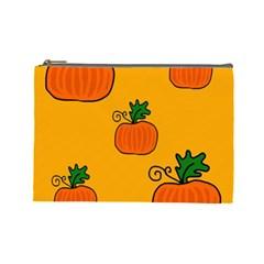 Thanksgiving pumpkins pattern Cosmetic Bag (Large)