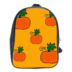 Thanksgiving pumpkins pattern School Bags(Large)