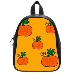 Thanksgiving pumpkins pattern School Bags (Small)