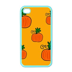 Thanksgiving pumpkins pattern Apple iPhone 4 Case (Color)
