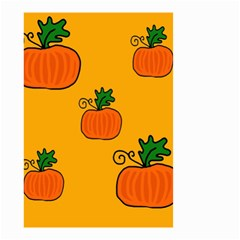 Thanksgiving pumpkins pattern Small Garden Flag (Two Sides)