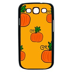 Thanksgiving pumpkins pattern Samsung Galaxy S III Case (Black)