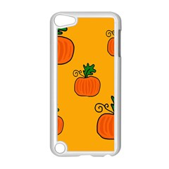 Thanksgiving pumpkins pattern Apple iPod Touch 5 Case (White)