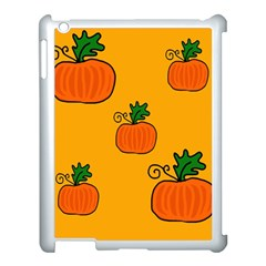 Thanksgiving pumpkins pattern Apple iPad 3/4 Case (White)