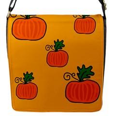 Thanksgiving pumpkins pattern Flap Messenger Bag (S)