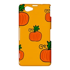 Thanksgiving pumpkins pattern Sony Xperia Z1 Compact