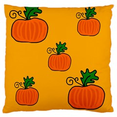 Thanksgiving pumpkins pattern Large Flano Cushion Case (Two Sides)