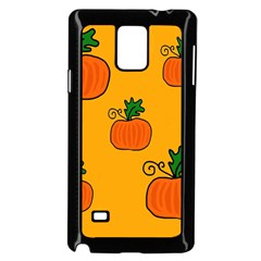 Thanksgiving pumpkins pattern Samsung Galaxy Note 4 Case (Black)
