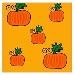 Thanksgiving pumpkins pattern Large Satin Scarf (Square)