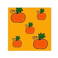 Thanksgiving Pumpkins Pattern Small Satin Scarf (square)