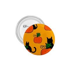Halloween pumpkins and cats 1.75  Buttons