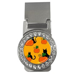 Halloween pumpkins and cats Money Clips (CZ)