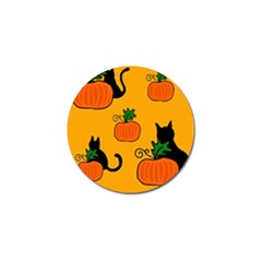 Halloween pumpkins and cats Golf Ball Marker (10 pack)