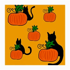 Halloween pumpkins and cats Medium Glasses Cloth (2-Side)