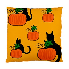 Halloween pumpkins and cats Standard Cushion Case (One Side)