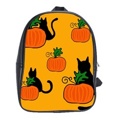 Halloween pumpkins and cats School Bags(Large)