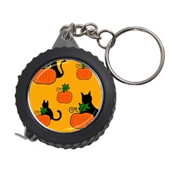 Halloween pumpkins and cats Measuring Tapes