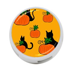 Halloween pumpkins and cats 4-Port USB Hub (One Side)