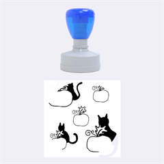Halloween Pumpkins And Cats Rubber Round Stamps (medium)
