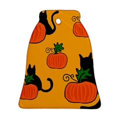 Halloween pumpkins and cats Bell Ornament (2 Sides)