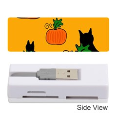 Halloween pumpkins and cats Memory Card Reader (Stick)
