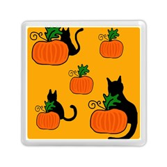 Halloween pumpkins and cats Memory Card Reader (Square)