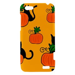 Halloween pumpkins and cats HTC One V Hardshell Case