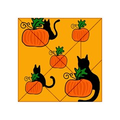Halloween pumpkins and cats Acrylic Tangram Puzzle (4  x 4 )