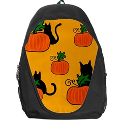 Halloween pumpkins and cats Backpack Bag