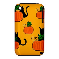 Halloween pumpkins and cats Apple iPhone 3G/3GS Hardshell Case (PC+Silicone)
